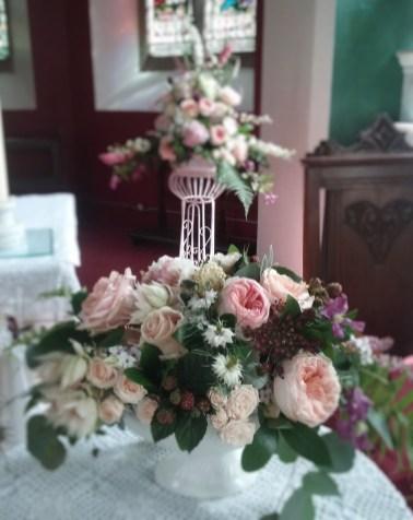 Dromagh Church wedding flowers