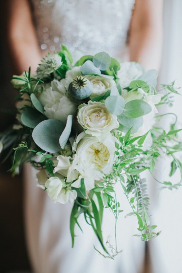 White Wedding Bouquet, Rose & Peony