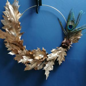 gold oak leaf hoop