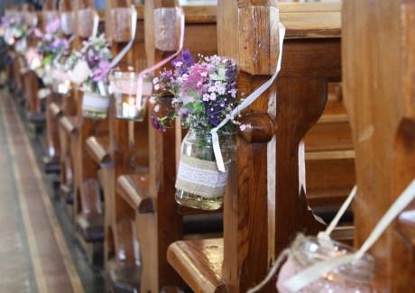 jam jar pew end Ballycotton Church