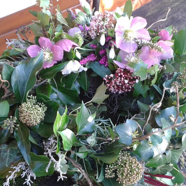 winter wreath natural