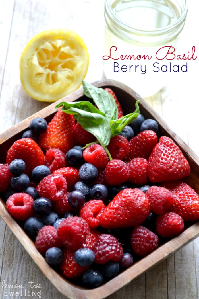Lemon Basil Berry Salad