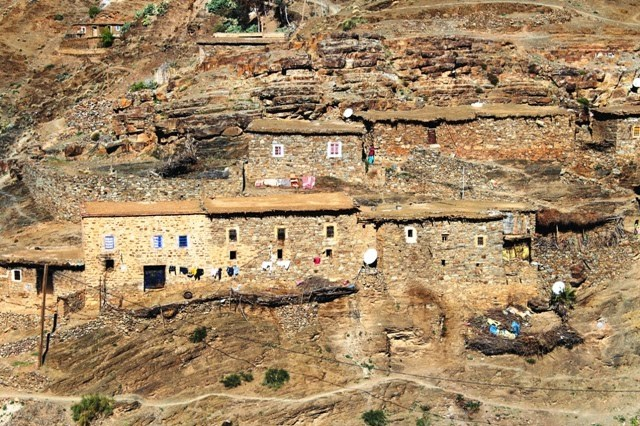 Village in the Atlas mountains, Morocco