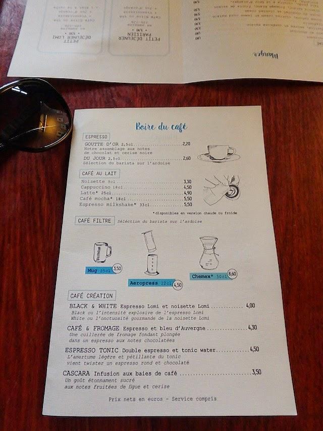 Café Lomi menu