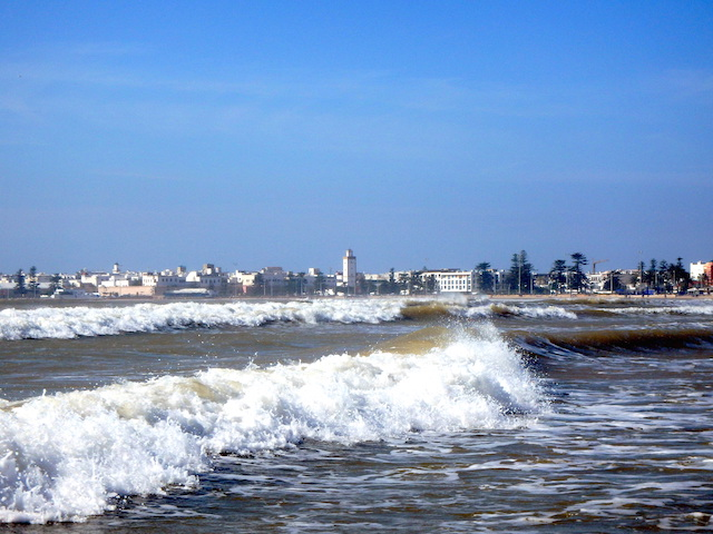 Essaouira beach, Morocco, waves.
