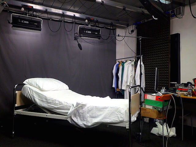 On the set of a medical corporate movie