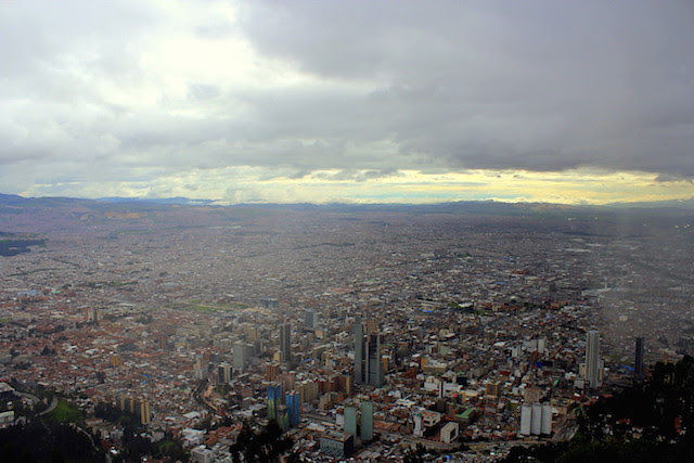 Bogota, view from Cerro de Monserrate