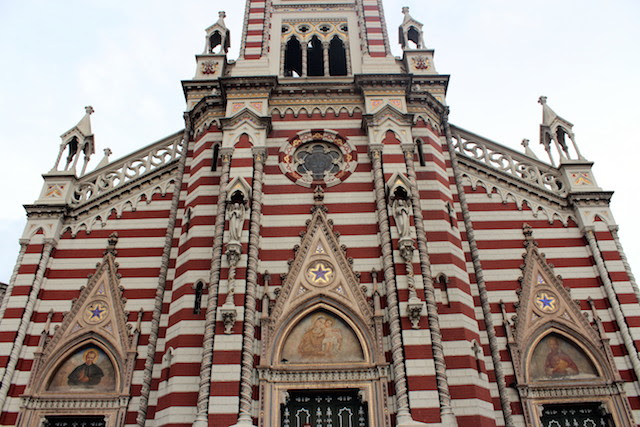 Holy Mother of Carmen church in Bogota, Colombia