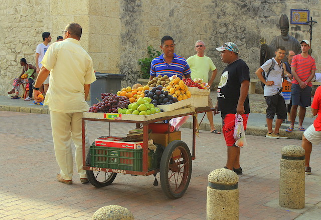 Fruit stall in Cartagena old town, Colombia