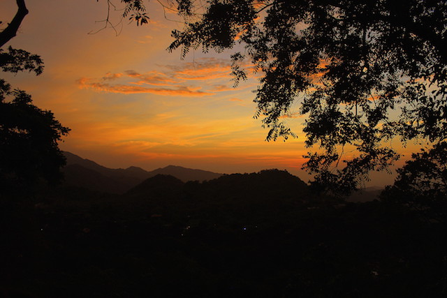 Sunset in Minca, Colombia
