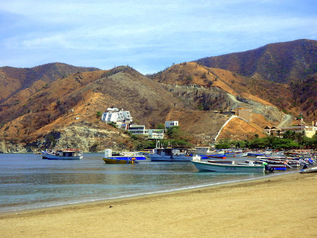 Fishermen boats in Taganga, Colombia