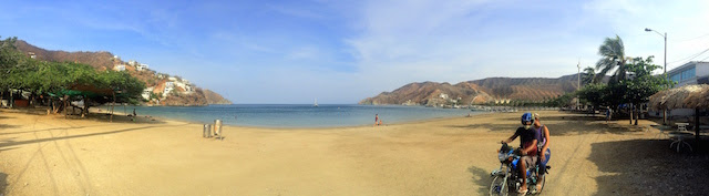 The bay in Taganga, Colombia