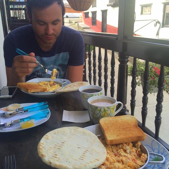 Breakfast at Posada Casa Salento, Colombia