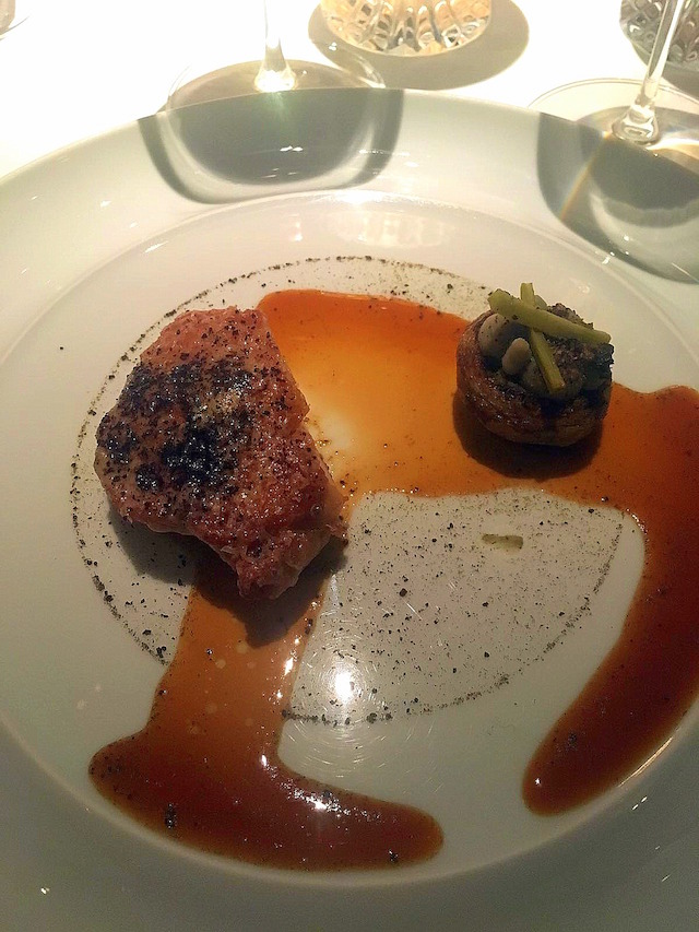 Veal sweetbread at Anne-Sophie Pic restaurant, Valence
