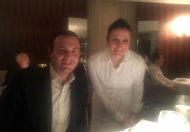 French starred chef Anne-Sophie Pic in her restaurant in Valence