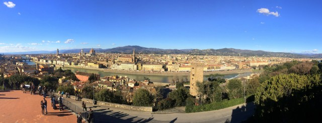 View from Piazzale Michelangelo in Florence