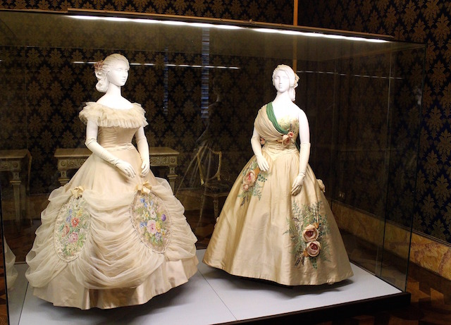 Visiting the Costume gallery, Pitti Palace in Florence
