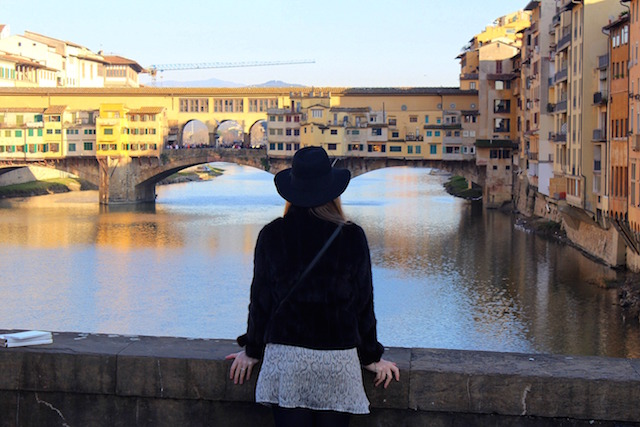 Week-end in Florence, admiring the Ponte Vecchio