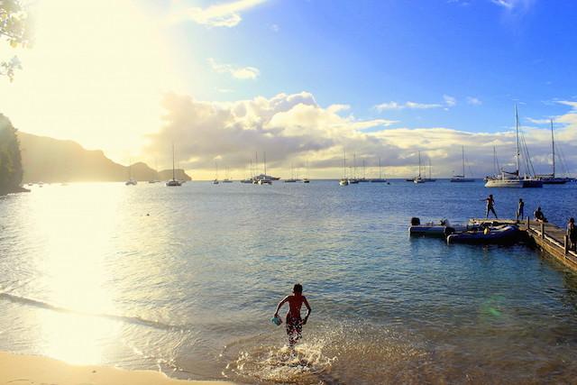 Sunset in Bequia, Grenadine islands