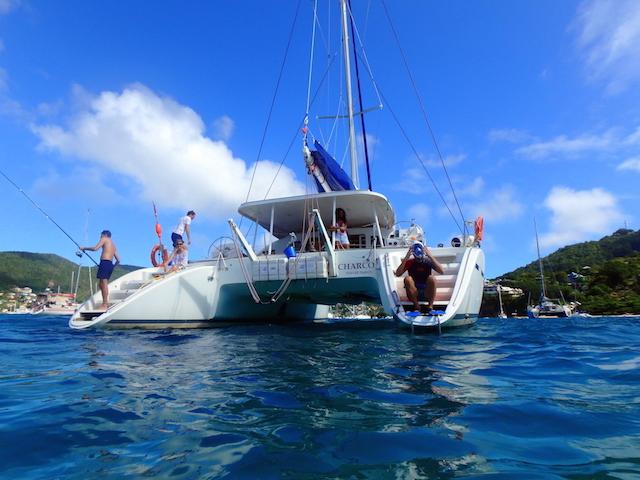 Catamaran in Bequia, Grenadine islands