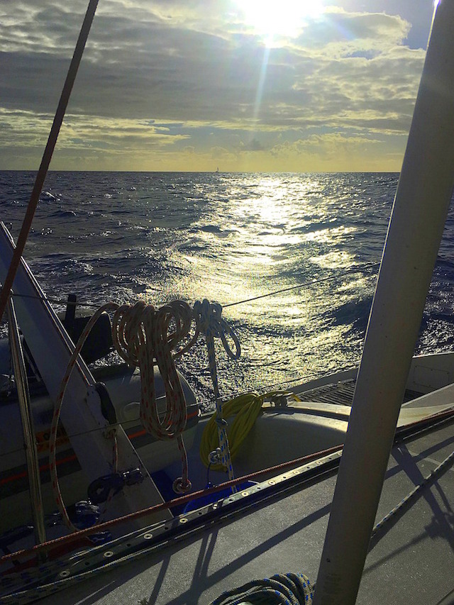 View over the ocean while sailing from the Grenadines to Saint Lucie