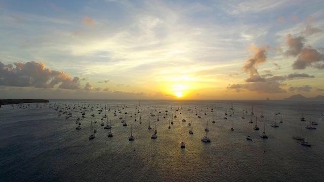 Drone picture of Sainte Anne, Martinique