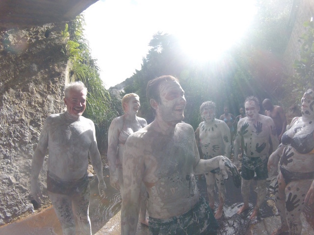 Mud bath in La Soufrière, St. Lucia