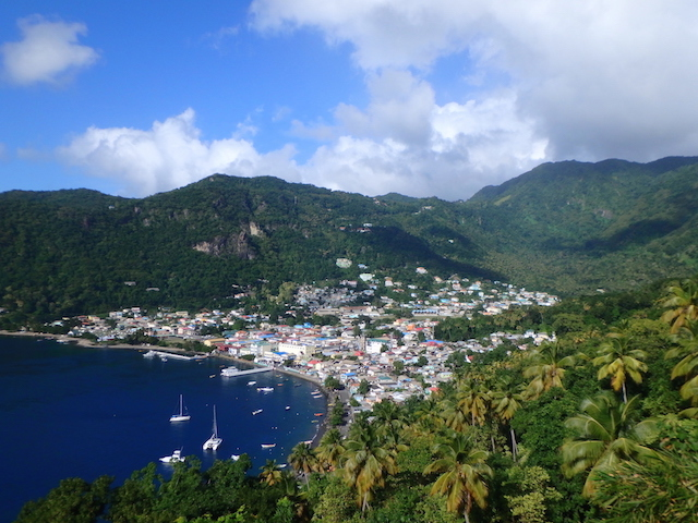 Viewpoint over La Soufrière in St. Lucia
