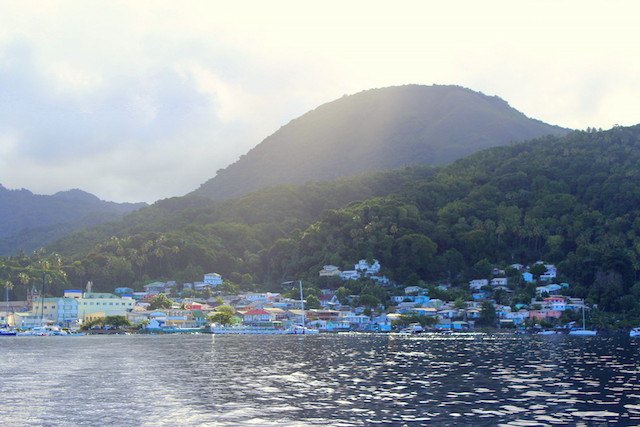 View over La Soufrière in St. Lucia