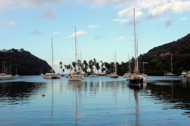 Early morning in Marigot Bay, St. Lucia
