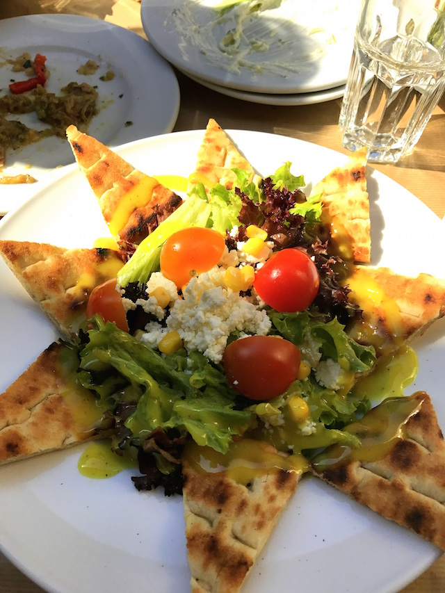 Greek salad for lunch in Athens