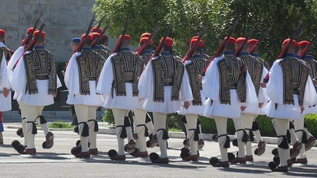 The Changing of the Guard ceremony in Athens