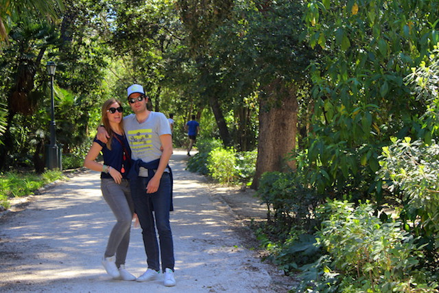 Having a stroll in the National gardens in Athens