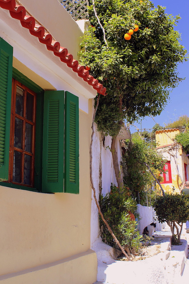 Having a stroll in Plaka little streets, Athens