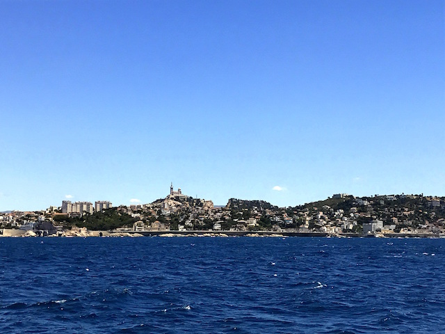 View of Marseille from the boat