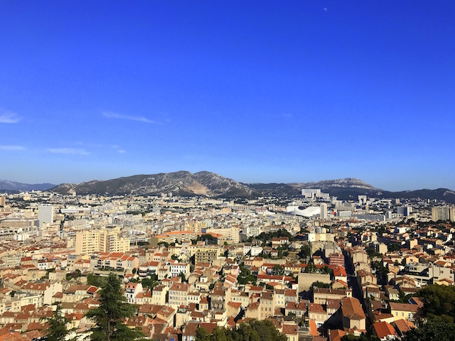 View of Marseille from the Basilique Notre-Dame de la Garde