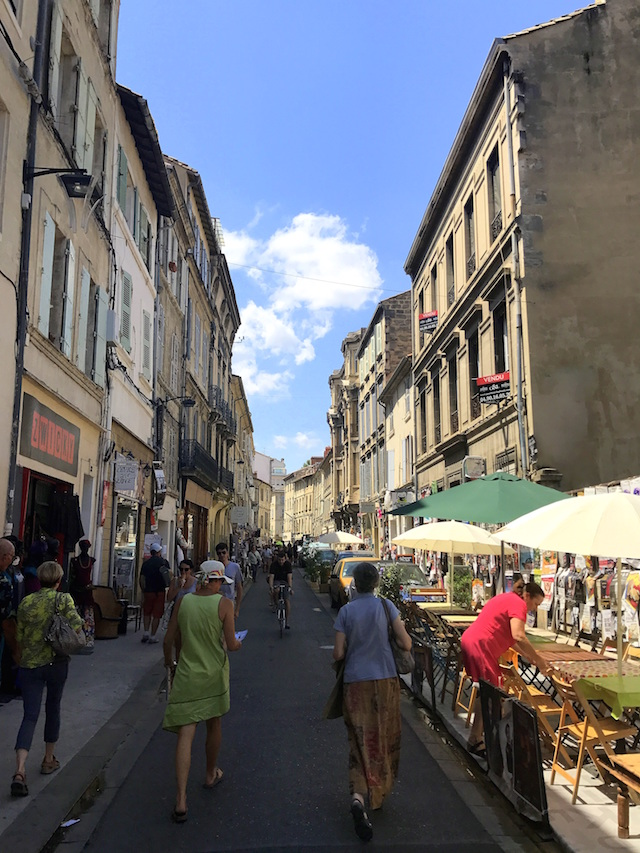 Wandering the streets of Avignon during the theatre festival