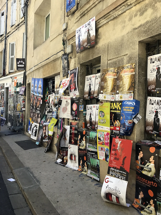Posters of the Festval Off in Avignon, France