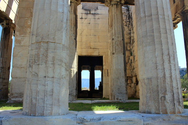 Temple of Hephaestus in the Ancient Agora in Athens