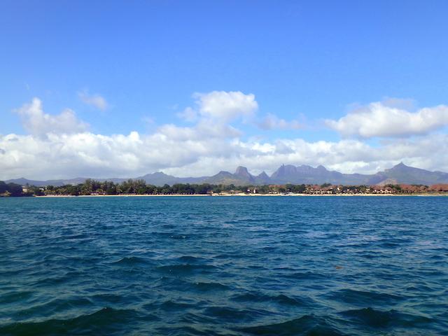 Sailing in Turtle Bay, Mauritius