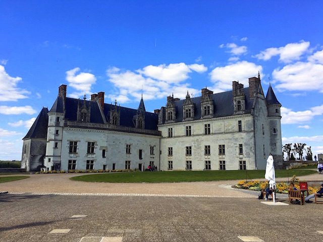 Visiting Amboise castle, in the Loire valley, France