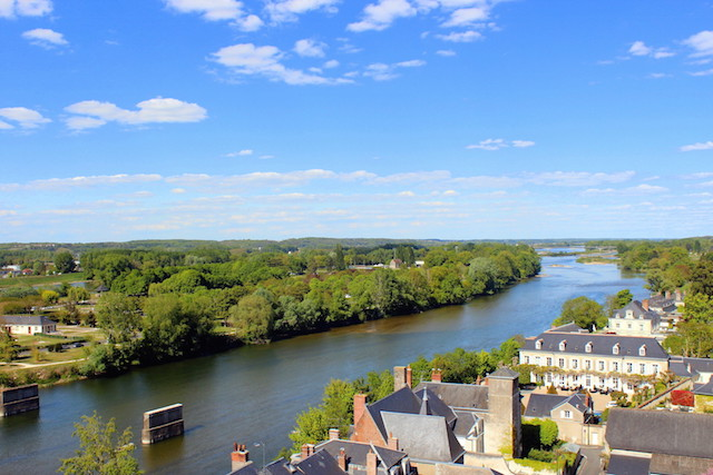 View over the Loire river from the castle of Amboise
