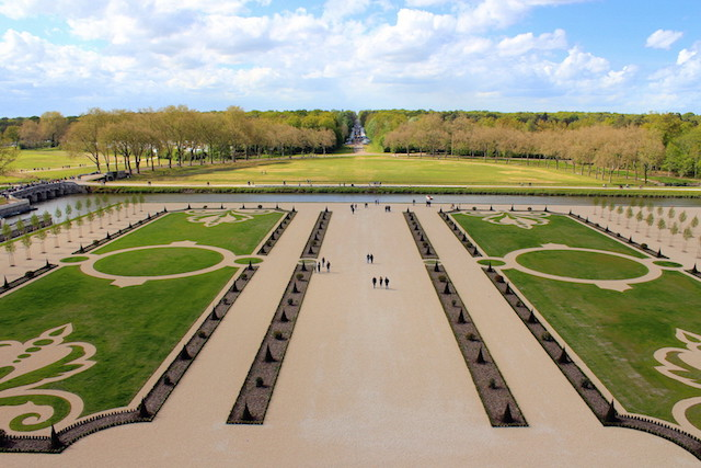 The garden of the castle of Chambord