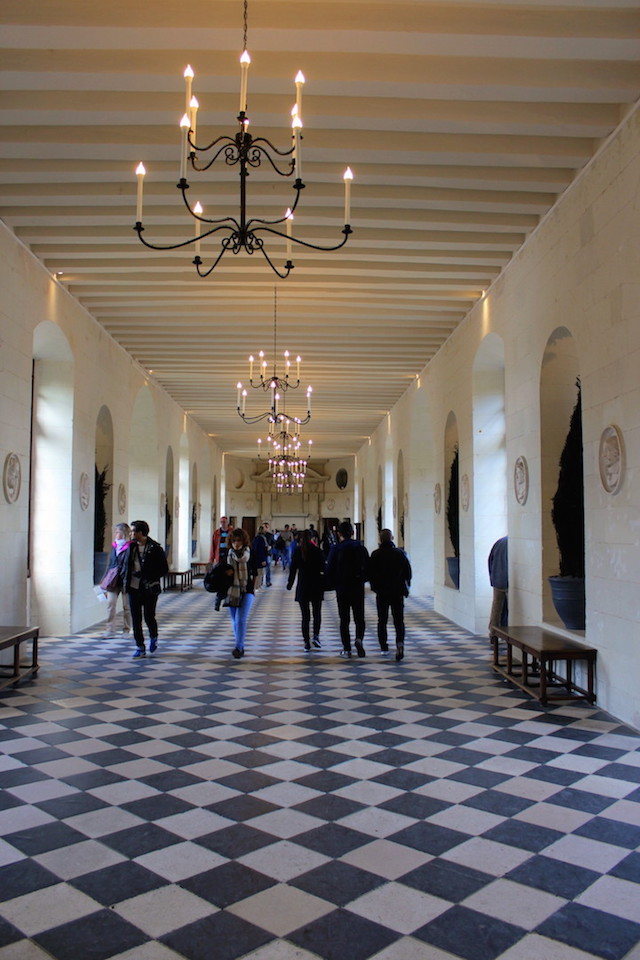 The interior of Chenonceau castle