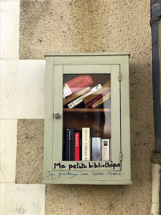 Books exchange in Amboise