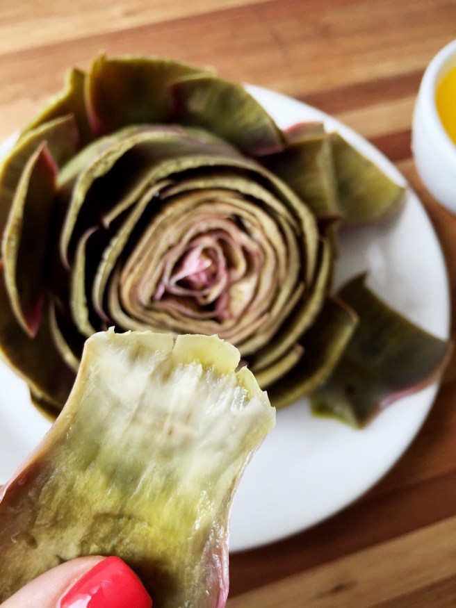 Artichokes with lemon butter | The Secret Life of Bee