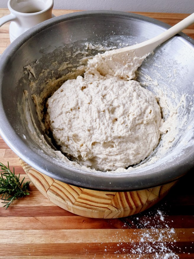 Bread dough in the making