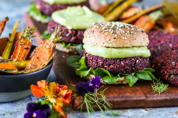 Freekeh Beet Burger with Avonaise | The Secret Life of Bee