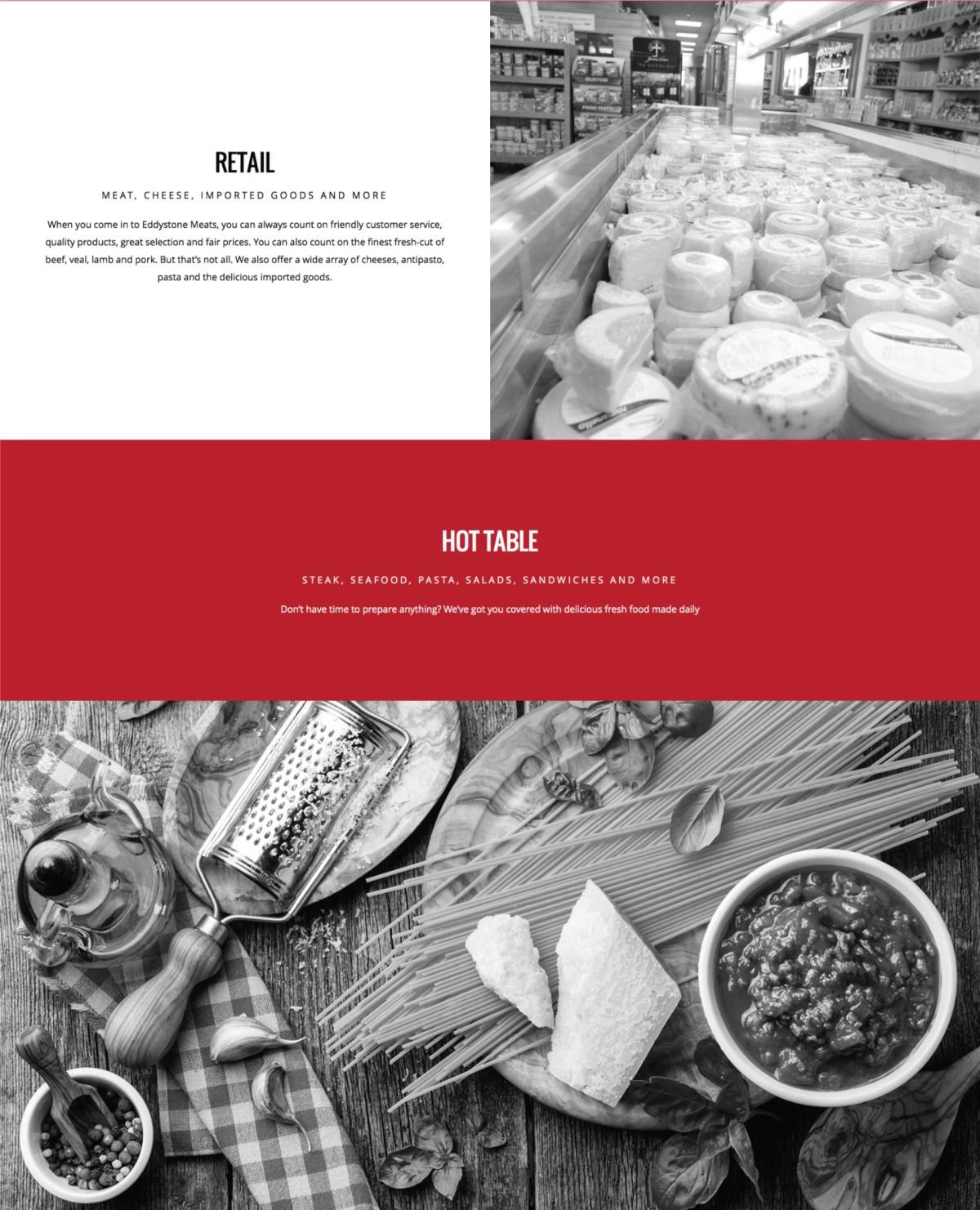 Eddystone Meats Website