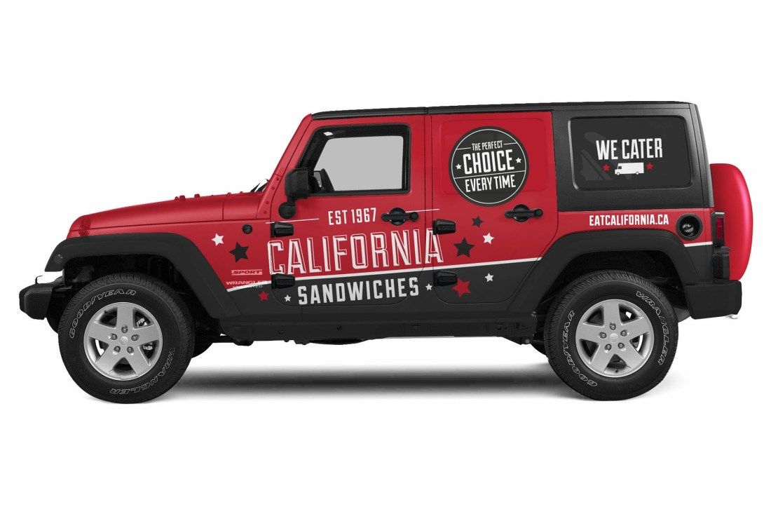 California Sandwiches Vehicle Graphics